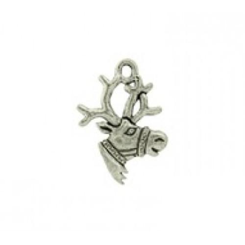Reindeer Pewter Charm