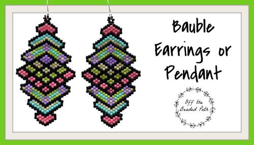 Bauble Earrings/Pendant INSTANT DOWNLOAD Pattern