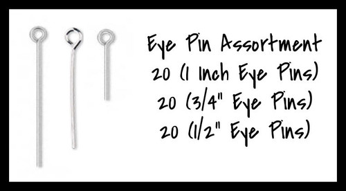 Silver Plated Eye Pin Assortment