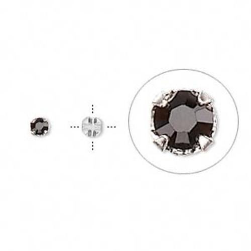 Jet 3.2mm Swarovski Crystal Montee (24 Pack)