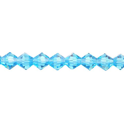 Medium Aqua 3mm Thunder Polish Bicone Crystals