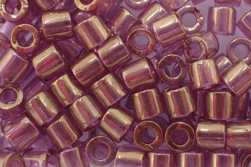 8/0 Gold Luster Amethyst Delica dbl-0108-tb (8 Grams)