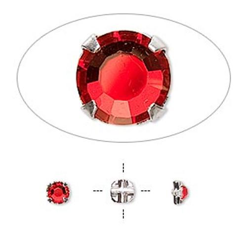 Light Siam 3.9mm Swarovski Crystal Montee (24 Pack)