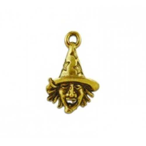 Witch Face Pewter Charm