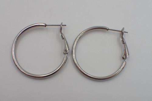 30mm Stainless Steel Hoop Earrings (1 Pair)