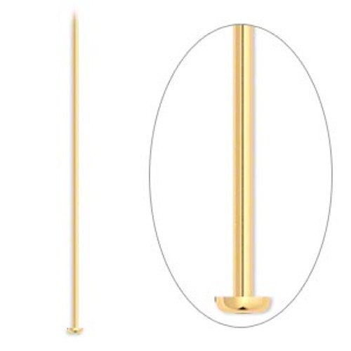 """3"""" Gold Plated Headpins (20 Pack)"""