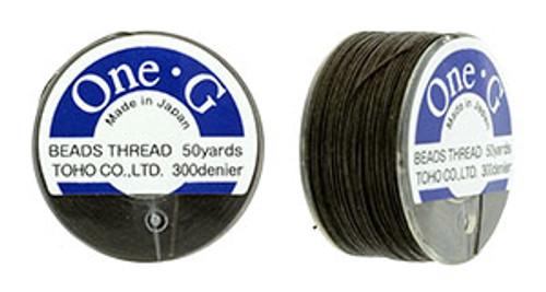 Brown One G thread 50yd Spool