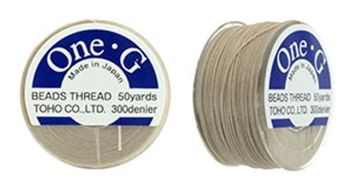 Beige One G thread 50yd spool