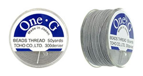 Light Grey One G Thread 50yd Spool