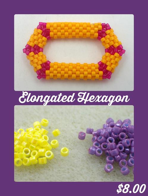 Purple & Yellow Elongated Hexagon Kit