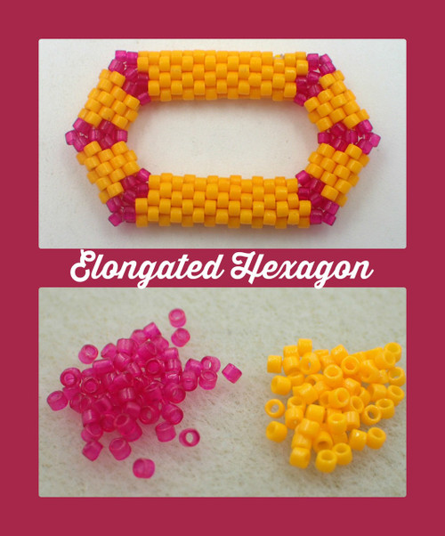 Pink & Orange Elongated Hexagon Kit