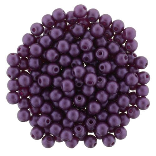 3mm Purple Velvet Glass Pearls (100 Beads)