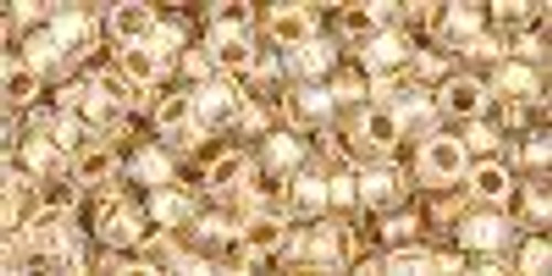 8/0 Gold Lined Rainbow Crystal Toho Seed Beads (20 Grams)  08-994