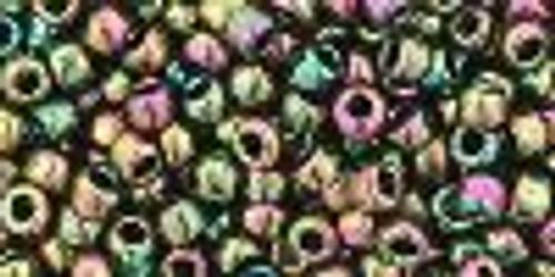 8/0 Metallic Olivine Iris Toho Seed Beads (20 Grams) 8-508