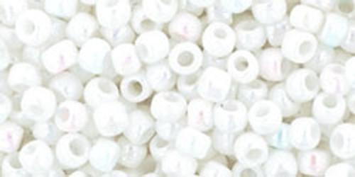 8/0 Toho Opaque RBW White Seed Beads (22 Grams) 08-401