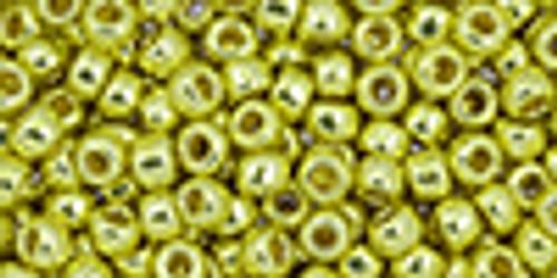 8/0 PermaFinish Galvanized Yellow Gold Toho Seed Beads (20 Grams) 8-PF590