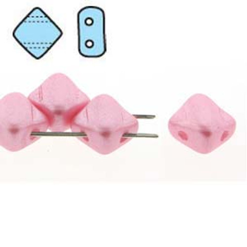Pastel Pink 2-Hole Silky Beads