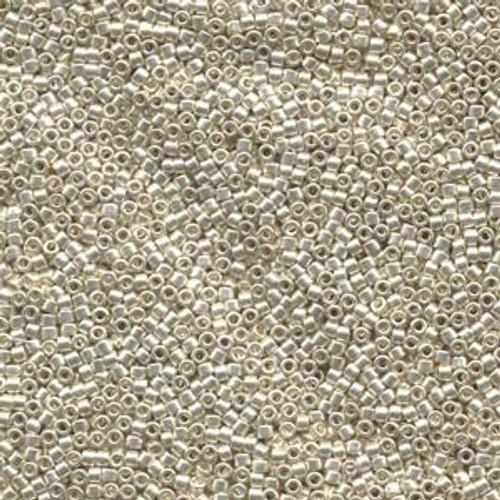 Galvanized Silver 11/0 Delica Beads db035 (8 Grams)