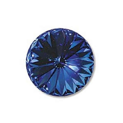 14mm Sapphire Preciosa Rivoli  (1 Piece)