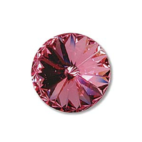 14mm Rose Swarovski Rivoli  (1 Piece)