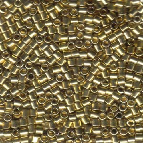 8/0 Light Gold 24K Delica Beads dbl-0034 (8 Grams)