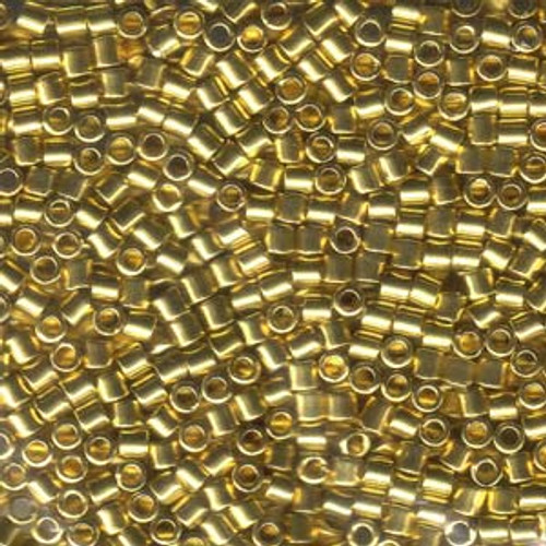8/0 Bright Gold 24k Delica Beads dbl-0031 (8 Grams)