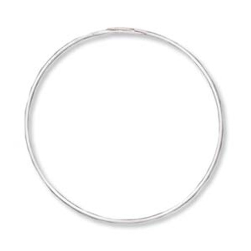 "1"" Silver Plated Endless Hoops (3 Pairs)"