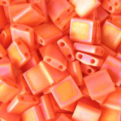 Matte Opaque Orange AB 5mm Tila Beads (TL406FR)