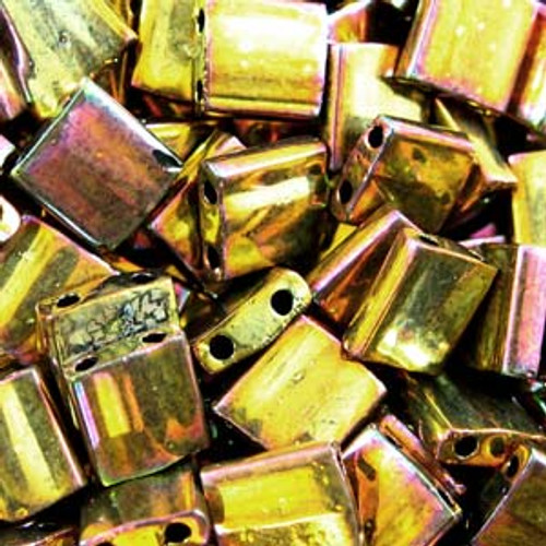 Metallic Gold Iris 5mm Tila Beads (TL462)