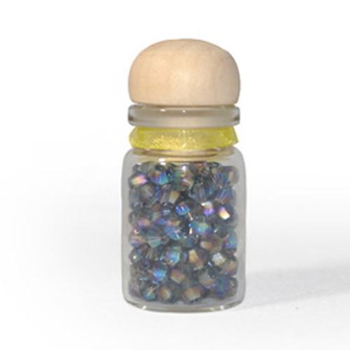 3mm Mexican Blue AB Thunder Polish Bicone Crystals (144pk) #38AB