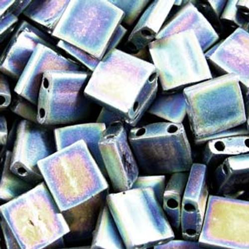 Matte Black AB 5mm Tila Beads (TL401FR)