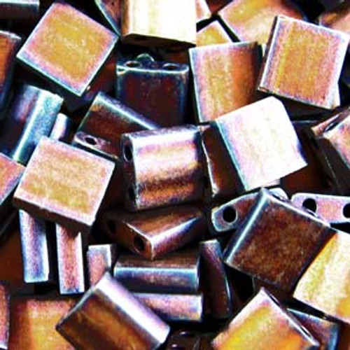 Matte Metallic Copper 5mm Tila Beads (TL2005)