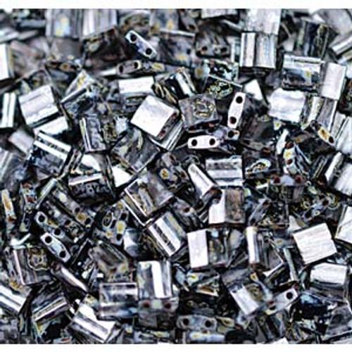 Picasso Smoky Black 5mm Tila Beads (TL4511)
