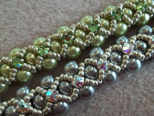 Montee Embellished Pearl Bracelet Pattern - INSTANT DOWNLOAD