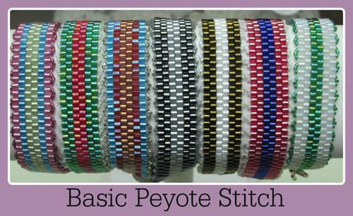Even Count Peyote Stitch Bracelet Tutorial - INSTANT DOWNLOAD