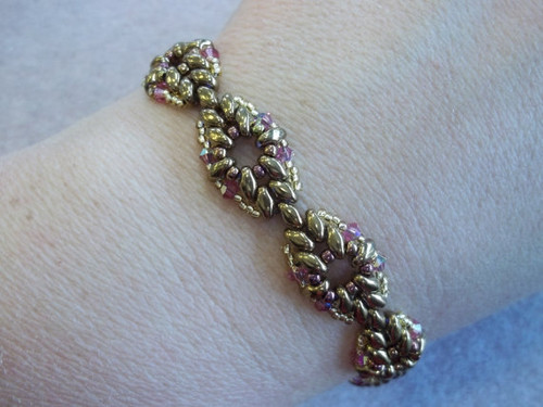 Diamond Duo Bracelet Tutorial - INSTANT DOWNLOAD