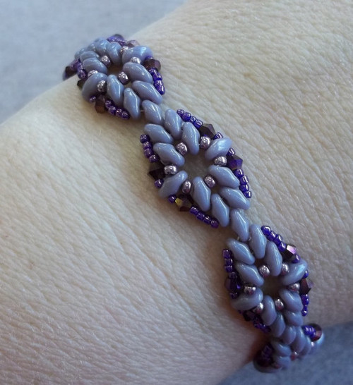 Diamond Duo Bracelet Tutorial - INSTANT DOWNLOAD