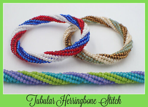 Tubular Twisted Herringbone Bangle Bracelet - INSTANT DOWNLOAD