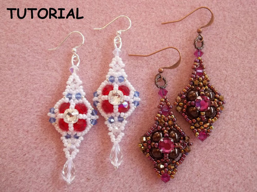 Queens Jubilee Earrings Tutorial
