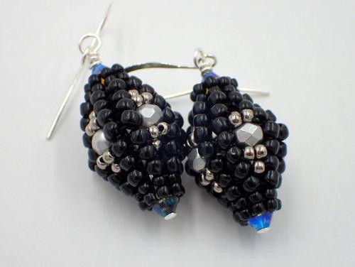Herringbone Lantern Earrings INSTANT DOWNLOAD Tutorial