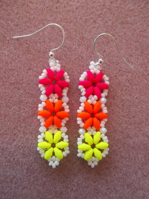 Hexagon Duo Earrings INSTANT DOWNLOAD Tutorial