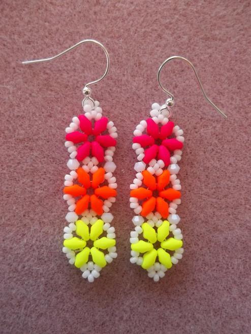 Hexagon Duo Earrings INSTANT DOWNLOAD Tutorial