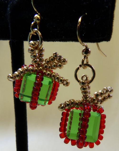 Christmas Package Earrings Tutorial