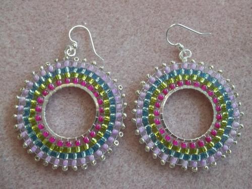 Circular Brick Stitch Earrings Tutorial
