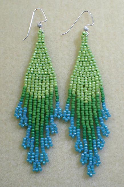 Long Fringe Earrings INSTANT DOWNLOAD Tutorial