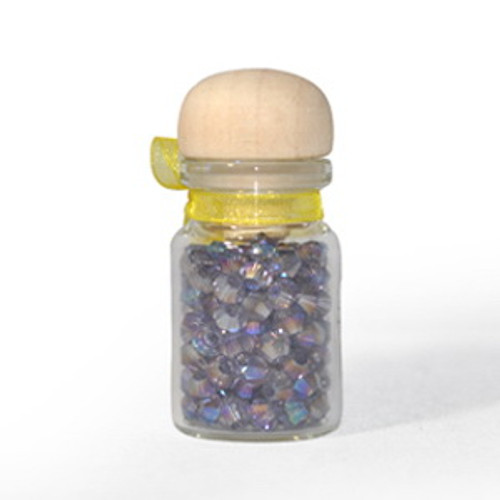 3mm Violet AB Thunder Polish Bicone Crystals (144pk) #34AB