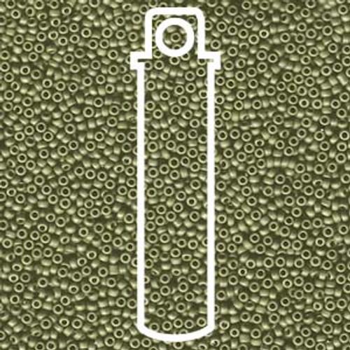 15/0 Matte Metallic Light Olivine Miyuki Seed Beads