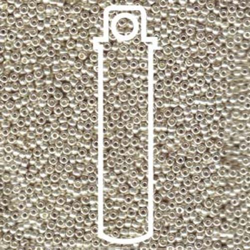 11/0 Galvanized Silver Miyuki Seed Beads
