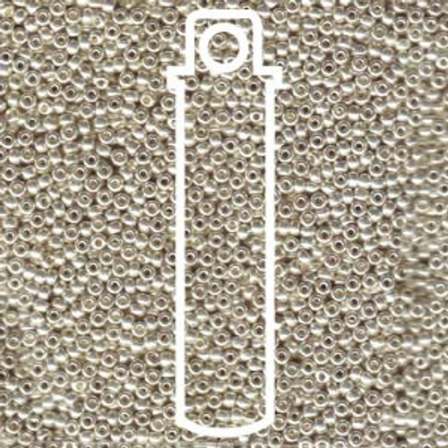 11/0 Galvanized Silver Miyuki Seed Beads (22 Grams)