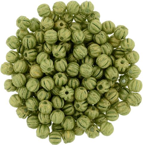 3mm Melon - Pacifica Avocado (1oo Beads)